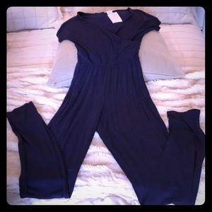 Jumpsuit romper nwt navy blue size xs summer
